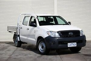 2010 Toyota Hilux TGN16R MY10 Workmate White 5 Speed Manual Utility Seaford Frankston Area Preview