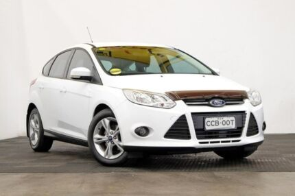 2014 Ford Focus LW MKII Trend PwrShift Frozen White 6 Speed Sports Automatic Dual Clutch Hatchback Seven Hills Blacktown Area Preview
