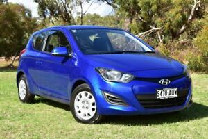 2012 Hyundai i20 PB MY12 Active Blue 5 Speed Manual Hatchback St Marys Mitcham Area Preview