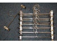 Chrome sliding peg hangers for pants and skirts x 150 pieces ( 2 Boxes )
