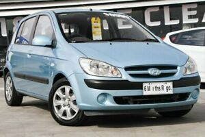 2006 Hyundai Getz TB MY06 Blue 5 Speed Manual Hatchback Hillcrest Logan Area Preview