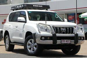 2010 Toyota Landcruiser Prado KDJ150R GXL White 5 Speed Sports Automatic Wagon Woolloongabba Brisbane South West Preview
