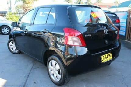 2008 Toyota Yaris NCP90R 08 Upgrade YR Black 5 Speed Manual Hatchback Hamilton Newcastle Area Preview