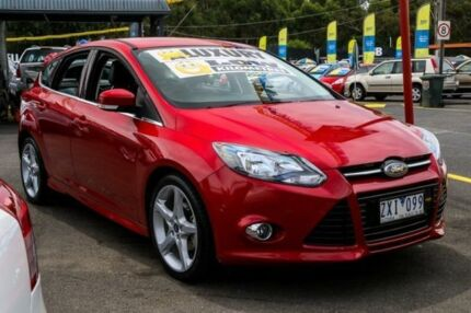 2013 Ford Focus LW MKII Titanium PwrShift Candy Apple Red 6 Speed Sports Automatic Dual Clutch Ringwood East Maroondah Area Preview