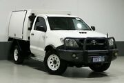2010 Toyota Hilux KUN26R 09 Upgrade SR (4x4) White 5 Speed Manual Cab Chassis Bentley Canning Area Preview