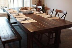 Locally Crafted: Reclaimed Wood Dining Table by LIKEN Woodworks