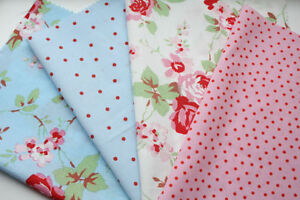 4-pcs-Cath-Kidston-ROSALI-Fabric-Material-Rose-IKEA-dots-floral-Bundle