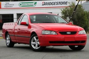 2003 Ford Falcon BA XLS Ute Super Cab Red 5 Speed Manual Utility Woodridge Logan Area Preview
