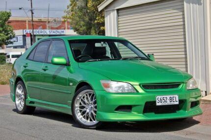 2002 Lexus IS200 GXE10R MY02 Sports Luxury Green 4 Speed Automatic Sedan