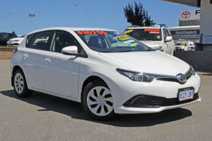 2016 Toyota Corolla ZRE182R Ascent S-CVT Glacier White 7 Speed Constant Variable Hatchback