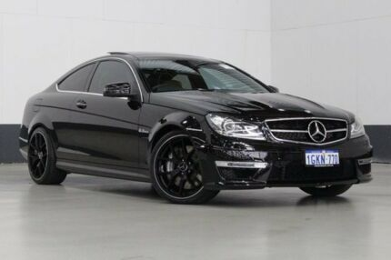 2013 Mercedes-Benz C63 W204 MY13 AMG Obsidian Black 7 Speed Automatic G-Tronic Coupe Bentley Canning Area Preview