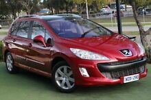 2009 Peugeot 308 T7 XSE Touring Red 4 Speed Sports Automatic Wagon Berwick Casey Area Preview