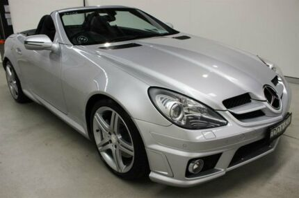 2010 Mercedes-Benz SLK300 R171 MY10 7G-Tronic Silver 7 Speed Sports Automatic Roadster