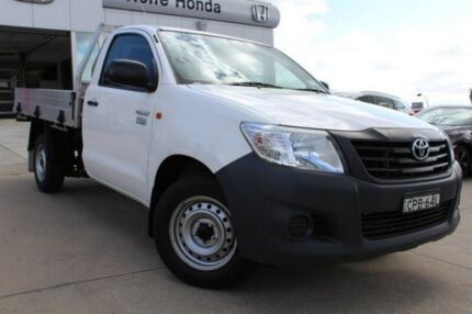 2013 Toyota Hilux TGN16R MY12 Workmate 4x2 White 5 Speed Manual Cab Chassis Belconnen Belconnen Area Preview