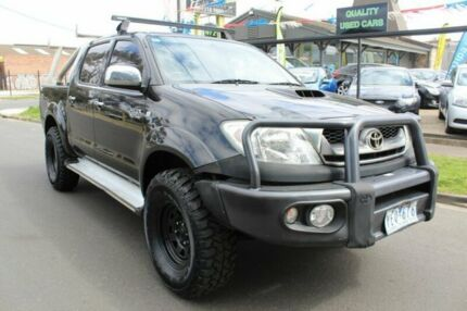 2011 Toyota Hilux KUN26R MY12 SR5 Double Cab Black 4 Speed Automatic Utility West Footscray Maribyrnong Area Preview