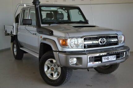 2016 Toyota Landcruiser VDJ79R GXL Double Cab Silver 5 Speed Manual Cab Chassis Wagga Wagga Wagga Wagga City Preview