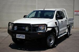 2013 Ford Ranger PX XL Double Cab White 6 Speed Sports Automatic Cab Chassis Seaford Frankston Area Preview
