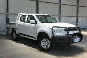 2012 Holden Colorado RG MY13 LX Crew Cab White 5 Speed Manual Cab Chassis Invermay Launceston Area Preview