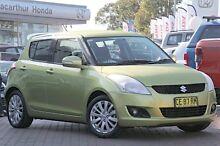 2012 Suzuki Swift FZ GLX Citrus Yellow 4 Speed Automatic Hatchback Smeaton Grange Camden Area Preview