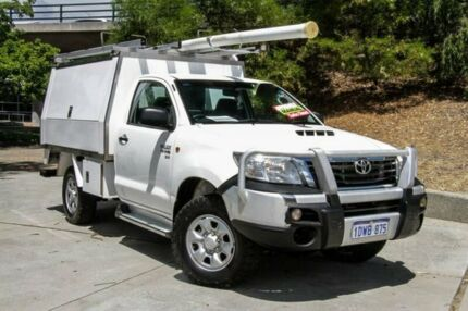 2011 Toyota Hilux KUN26R MY12 SR White 5 Speed Manual Cab Chassis