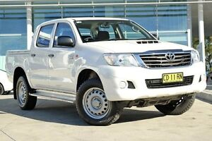 2015 Toyota Hilux KUN26R MY14 SR Double Cab White 5 Speed Automatic Utility Baulkham Hills The Hills District Preview
