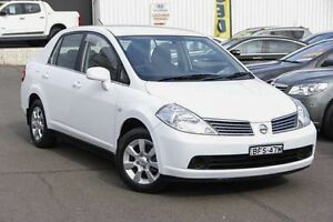 2008 Nissan Tiida C11 MY07 ST-L White 4 Speed Automatic Sedan Kings Park Blacktown Area Preview