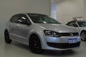 2011 Volkswagen Polo 6R MY11 77TSI Comfortline Silver 6 Speed Manual Hatchback Myaree Melville Area Preview