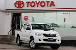 2013 Toyota Hilux KUN26R MY12 SR (4x4) White 5 Speed Manual Dual Cab Pick-up Old Guildford Fairfield Area Preview