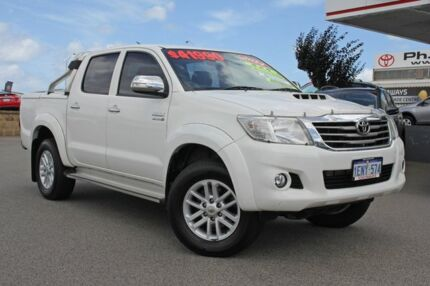 2014 Toyota Hilux KUN26R MY14 SR5 Double Cab Glacier White 5 Speed Automatic Utility Hillman Rockingham Area Preview