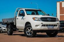 2007 Toyota Hilux KUN26R MY07 SR White 4 Speed Automatic Cab Chassis Fremantle Fremantle Area Preview
