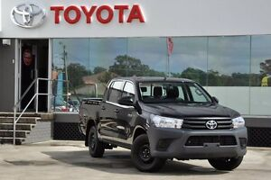 2016 Toyota Hilux TGN121R Workmate Eclipse Black 6 Speed Automatic Dual Cab Utility Old Guildford Fairfield Area Preview