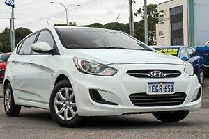 2012 Hyundai Accent RB Active White 4 Speed Sports Automatic Hatchback Myaree Melville Area Preview