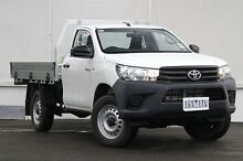 2015 Toyota Hilux GUN125R Workmate Glacier White 6 Speed Sports Automatic Cab Chassis Upper Ferntree Gully Knox Area Preview