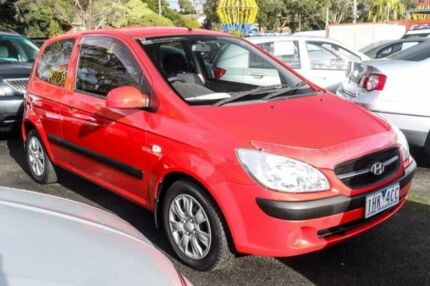 2010 Hyundai Getz TB MY09 S Red 5 Speed Manual Hatchback Ringwood East Maroondah Area Preview
