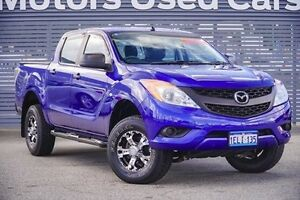 2013 Mazda BT-50 UP0YF1 XT 4x2 Hi-Rider Blue 6 Speed Sports Automatic Utility Maddington Gosnells Area Preview