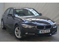 2012 BMW 3 Series 2.0 320D SPORT 4d AUTO 184 BHP Diesel black Automatic