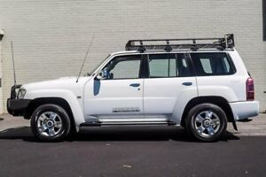 2010 Nissan Patrol GU VII ST (4x4) White 4 Speed Automatic Wagon