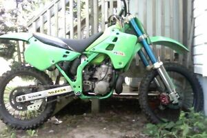 kx 250 two stroke works perfect needs nothing sell/trade