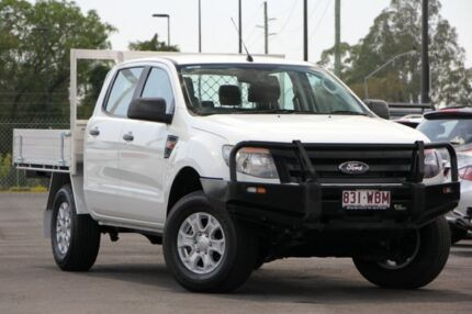 2013 Ford Ranger PX XL Double Cab 4x2 Hi-Rider White 6 Speed Sports Automatic Cab Chassis Brendale Pine Rivers Area Preview