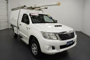 2012 Toyota Hilux KUN26R MY12 SR (4x4) Glacier White 5 Speed Manual Cab Chassis Moorabbin Kingston Area Preview
