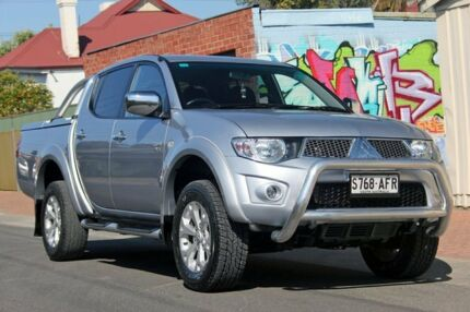 2010 Mitsubishi Triton MN MY11 GLX-R Double Cab Silver 5 Speed Manual Utility Glenelg East Holdfast Bay Preview