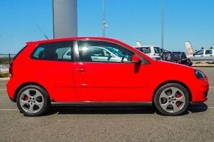 2008 Volkswagen Polo 9N MY08 Upgrade GTi Red 5 Speed Manual Hatchback Wangara Wanneroo Area Preview