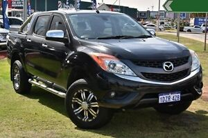 2012 Mazda BT-50 UP0YF1 GT Black 6 Speed Sports Automatic Utility Myaree Melville Area Preview