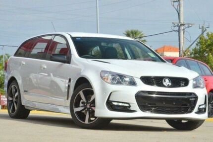 2016 Holden Commodore Vfii MY16 SV6 Black Edition Heron White 6 Speed Automatic Sportswagon Victoria Park Victoria Park Area Preview