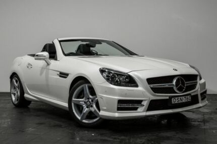 2015 Mercedes-Benz SLK350 R172 805MY 7G-Tronic + White 7 Speed Sports Automatic Roadster Rozelle Leichhardt Area Preview