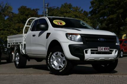 2013 Ford Ranger PX XL Super Cab White 6 Speed Manual Cab Chassis Moorooka Brisbane South West Preview