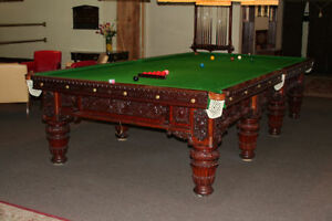 Antique Pool & Snooker tables For Sale
