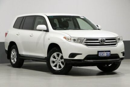 2013 Toyota Kluger GSU40R MY13 Upgrade KX-R (FWD) 7 Seat White 5 Speed Automatic Wagon Bentley Canning Area Preview