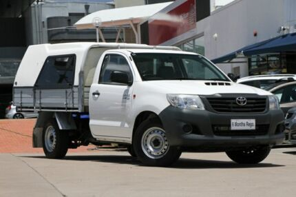 2013 Toyota Hilux KUN16R MY12 Workmate 4x2 White 5 Speed Manual Cab Chassis Hillcrest Logan Area Preview