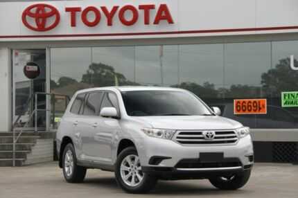 2013 Toyota Kluger GSU45R MY11 Upgrade KX-R (4x4) 7 Seat Silver Pearl 5 Speed Automatic Wagon Old Guildford Fairfield Area Preview